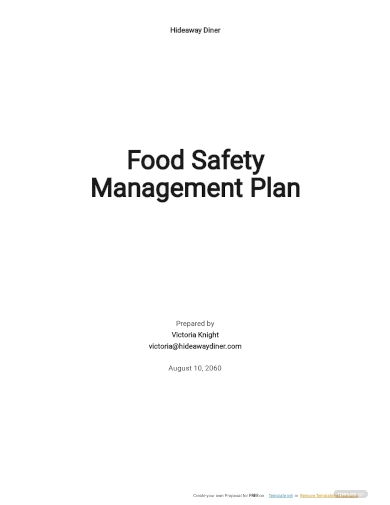 food safety management plan template