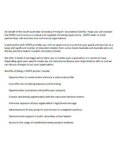 formal business partnership proposal