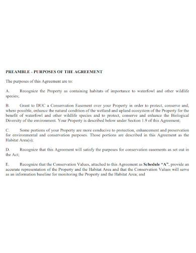 formal conservation easement agreement