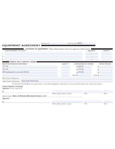 formal equipment sale agreement