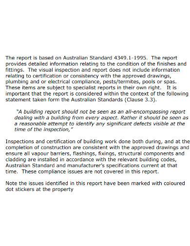 formal handover inspection report