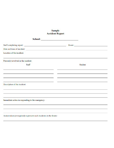 formal school accident report form