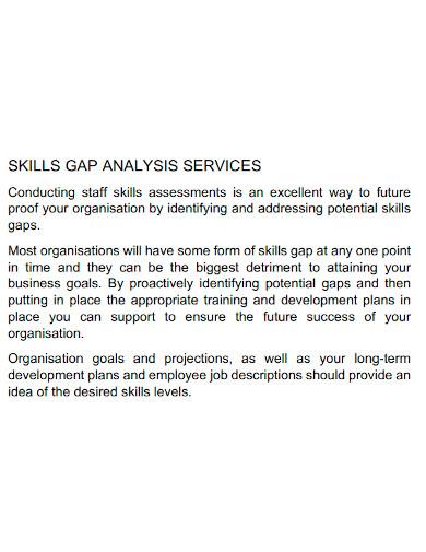 formal skills gap analysis