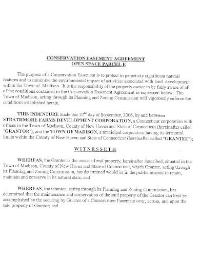general conservation easement agreement