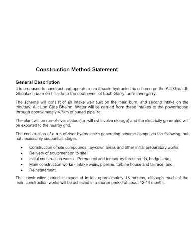 general construction method statement
