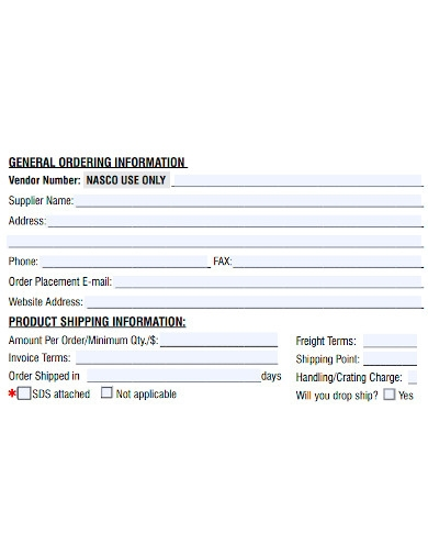 general new product proposal form
