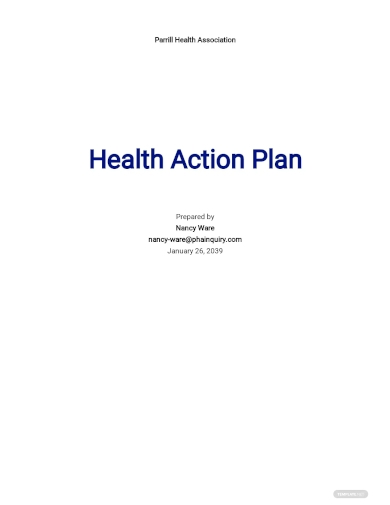 health action plan template