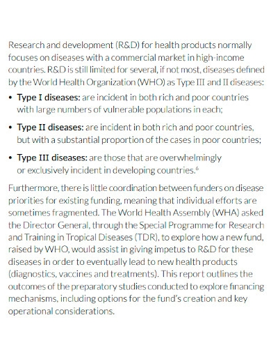 health product development proposal