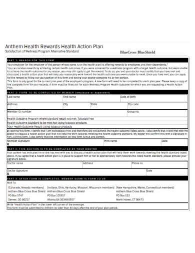 health rewards action plan