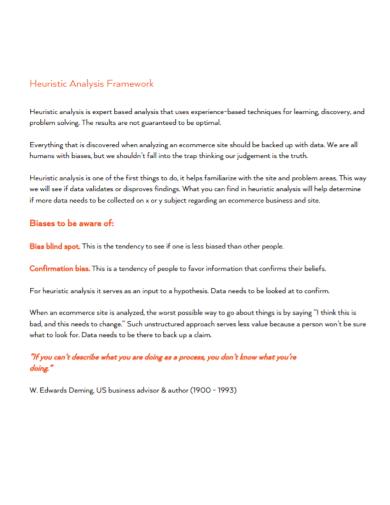 heuristic analysis framework