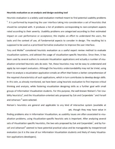 heuristic evaluation analysis