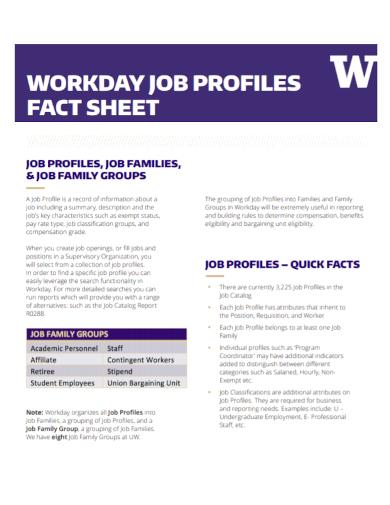 job profile fact sheet