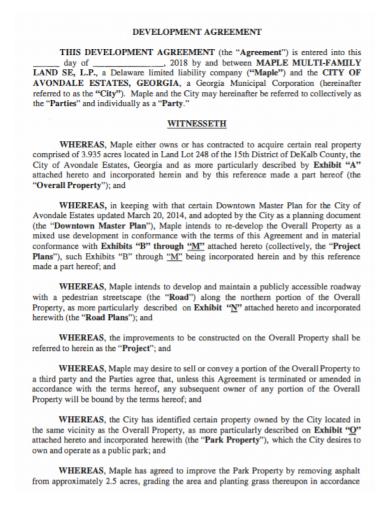 land property development agreement