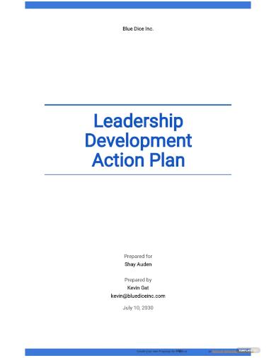 leadership development action plan template