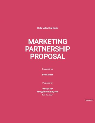 marketing partnership proposal sample