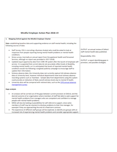 mindful employer action plan