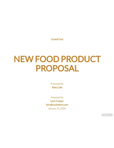 new food product proposal
