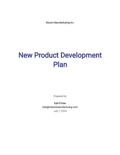 new product development plan templates