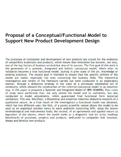 new product development proposal