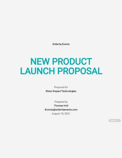 new product launch proposal