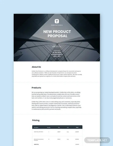 new product proposal sample