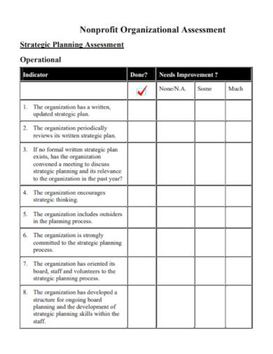 nonprofit organizational strategic planning