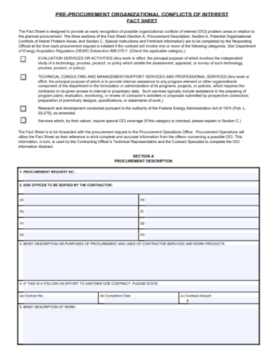 organizational conflicts fact sheet
