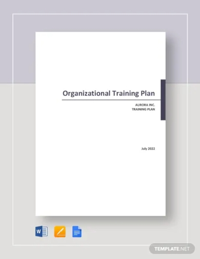 organizational training plan template
