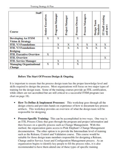 organizational training strategy plan