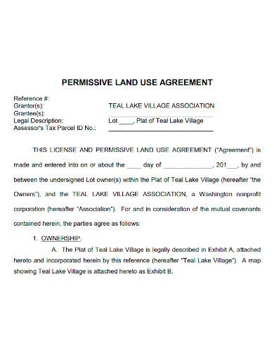 permissive land use agreement