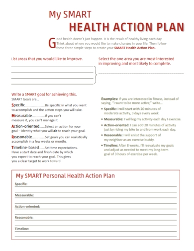 personal health action plan
