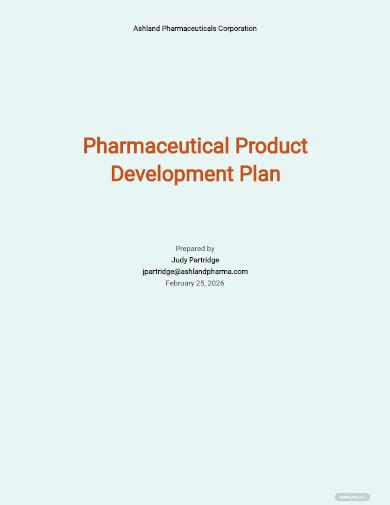 pharmaceutical product development plan