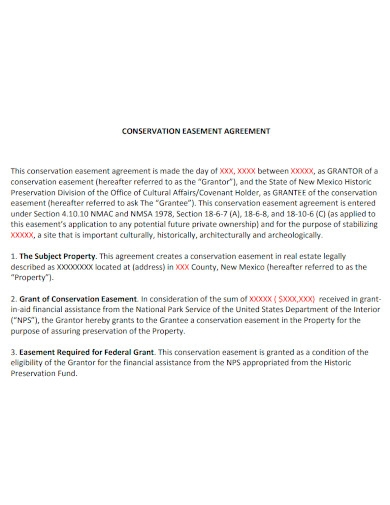 printable conservation easement agreement