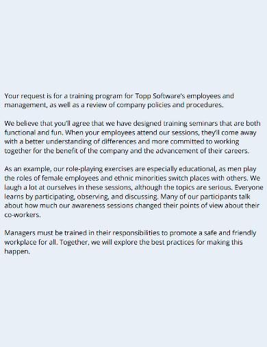 printable employee training proposal