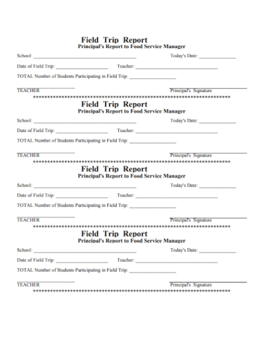 printable field trip report