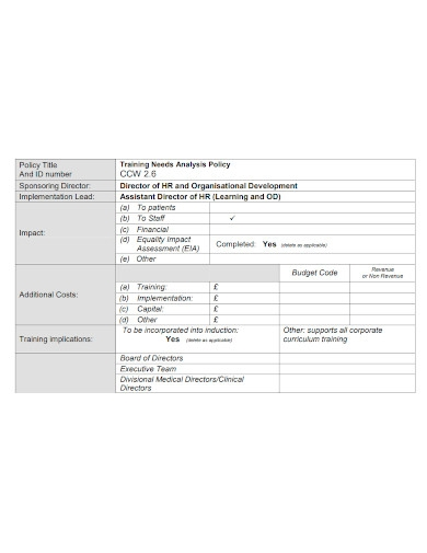 printable safety training needs analysis