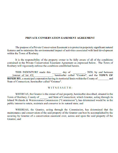 private conservation easement agreement