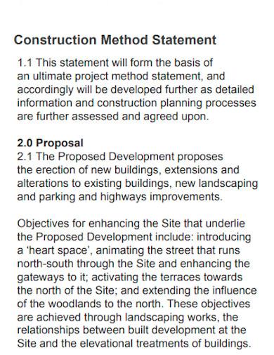 professional construction method statement