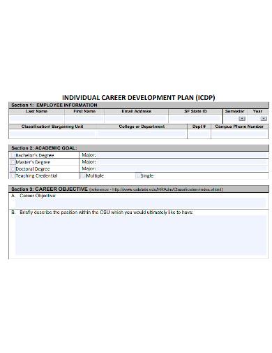 professional employee career development plan