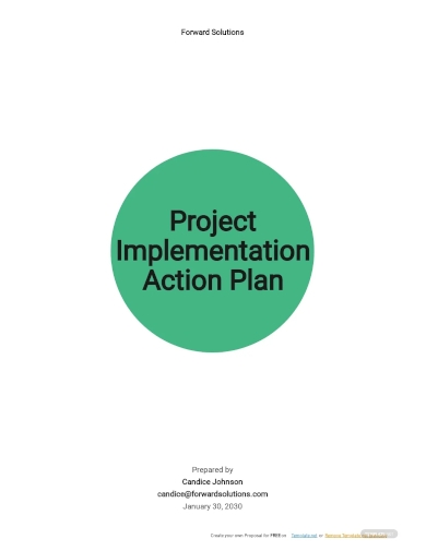 project implementation action plan template