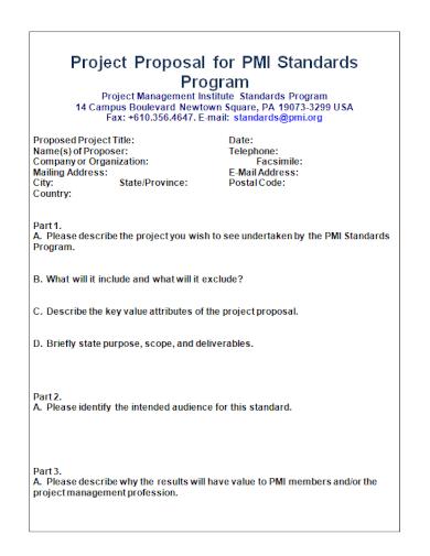 project management program proposal