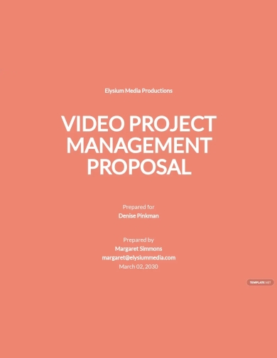 project management proposal template