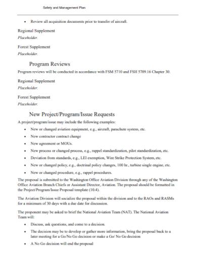 project program safety management plan