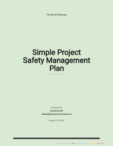 project safety management plan template