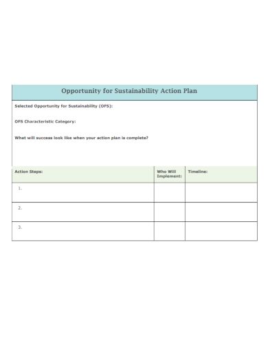 project sustainability action plan
