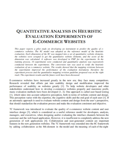quantitative heuristic analysis