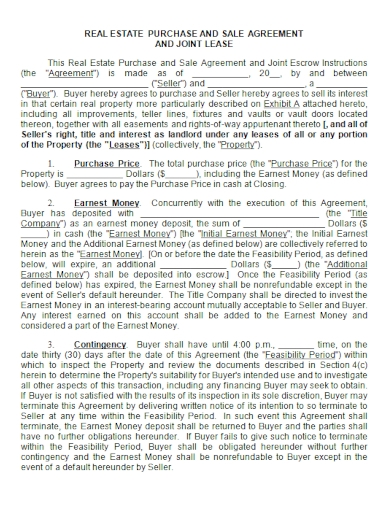real estate lease purchase and sale agreement