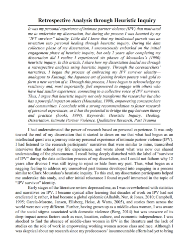 retrospective heuristic analysis