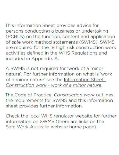 safe work method statement format