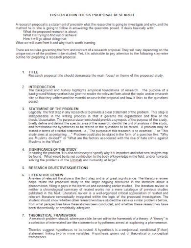 sample dissertation research proposal